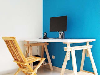 Study Room Ruang Studi/Kantor Modern Oleh ADEA Studio Modern Batu Bata
