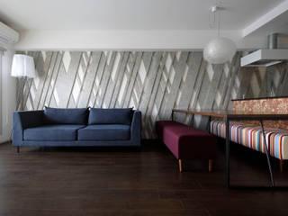 ELVIS RHETORIC: 一級建築士事務所 GLAが手掛けたリビングです。,