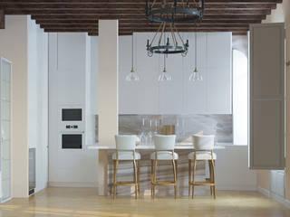 Квартира в историческом центре г.Пальма-де-Майорка: Кухонные блоки в . Автор – Yurov Interiors,