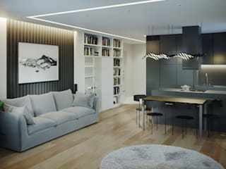 Living room by Yurov Interiors,