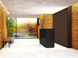 HOTEL LOBBY: Hotel in stile  di Studio Maiden