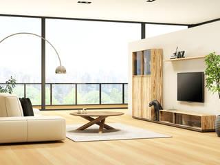 LIVING ROOM: Soggiorno in stile  di Studio Maiden