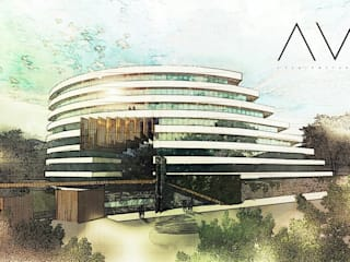 +: Condominios de estilo  por AV ARCHITECTURE