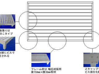 ベッドフレームの組み立て方: 阿部建設が手掛けた折衷的なです。,オリジナル