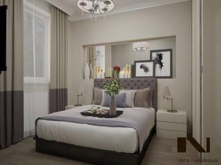 Частная квартира 56 кв. м., г. Ноябрьск Спальня в эклектичном стиле от студия дизайна интерьеров Веры Невской Эклектичный