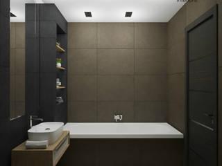 Частная квартира, 70 кв. м., г. Магнитогорск Ванная комната в эклектичном стиле от студия дизайна интерьеров Веры Невской Эклектичный
