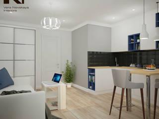 квартира-студия, 25 кв. м. Кухни в эклектичном стиле от студия дизайна интерьеров Веры Невской Эклектичный