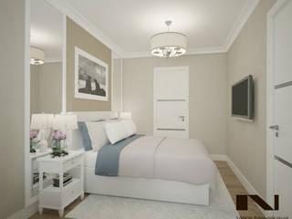 Частная квартира, 45 кв. м., г. Москва Спальня в эклектичном стиле от студия дизайна интерьеров Веры Невской Эклектичный
