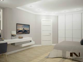 Частная квартира, г. Санкт-Петербург Спальня в стиле минимализм от студия дизайна интерьеров Веры Невской Минимализм