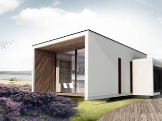 Casa Container 60 m2: Casas pequeñas de estilo  por Fabrica ARQ