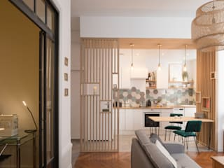 Camille BASSE, Architecte d'intérieur 现代客厅設計點子、靈感 & 圖片