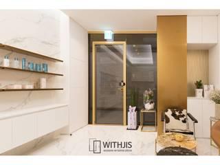 WITHJIS(위드지스) Centros comerciales de estilo moderno Aluminio/Cinc Ámbar/Dorado