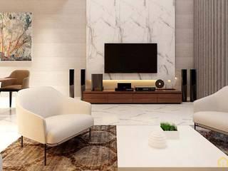 Asian style living room by công ty thiết kế nội thất CEEB tại cityland Gò Vấp Asian