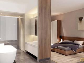 Asian style bedroom by công ty thiết kế nội thất CEEB tại cityland Gò Vấp Asian