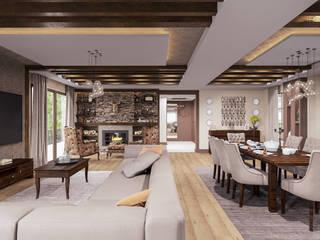 ANTE MİMARLIK Salones de estilo moderno Marrón