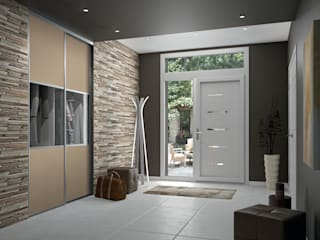 Kazed Vestíbulos, pasillos y escalerasCómodas y estanterías Piel sintética Transparente