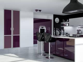 Kazed KitchenCabinets & shelves Chipboard Purple/Violet