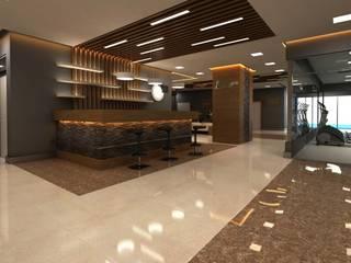 ANTE MİMARLIK Hoteles de estilo moderno Marrón