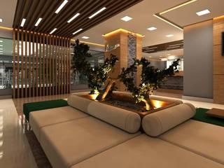 ANTE MİMARLIK Hoteles de estilo moderno Beige