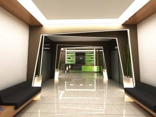 ANTE MİMARLIK Hoteles de estilo moderno Verde