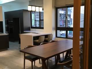 餐廳與廚房:  餐廳 by 心之所向設計美學工作室