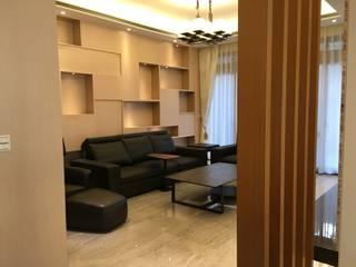 雅緻玉石質感居 现代客厅設計點子、靈感 & 圖片 根據 台中室內設計裝修|心之所向設計美學工作室 現代風
