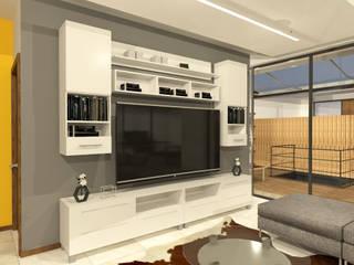Salle multimédia de style  par Arquitecto Rafael Balbi , Minimaliste