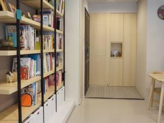 Rustic style corridor, hallway & stairs by 璞玥室內裝修有限公司 Rustic