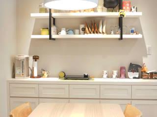 Rustic style dining room by 璞玥室內裝修有限公司 Rustic