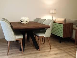 Alma Braguesa Furniture Sala da pranzo in stile scandinavo Alluminio / Zinco Nero