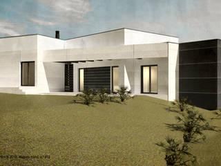 ATELIER OPEN ® - Arquitetura e Engenharia Villa Stahlbeton Grau