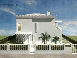 ATELIER OPEN ® - Arquitetura e Engenharia Einfamilienhaus Stahlbeton Grau