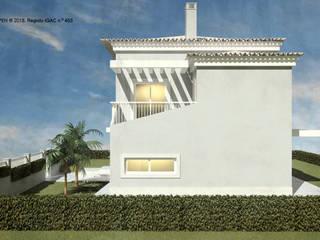 ATELIER OPEN ® - Arquitetura e Engenharia Landhaus Beton Weiß