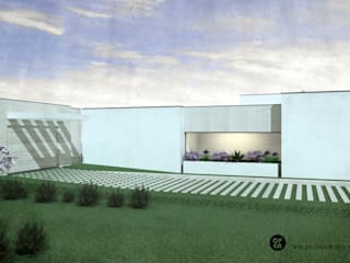 ATELIER OPEN ® - Arquitetura e Engenharia Einfamilienhaus Eisen/Stahl Beige