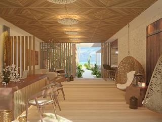 Hotel Mystique Blue Holbox Hoteles de estilo mediterráneo de ARQUITECTURAZUL Mediterráneo