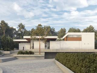 Projekt współczesnej willi: styl , w kategorii Domy zaprojektowany przez KJ Architekci,