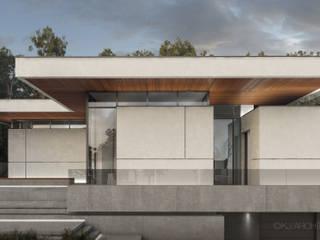 Projekt współczesnej willi: styl , w kategorii Willa zaprojektowany przez KJ Architekci,
