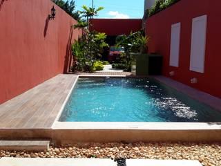 Casa del Jaguar Albercas modernas de Grupo Inmobiliario Dofer Moderno