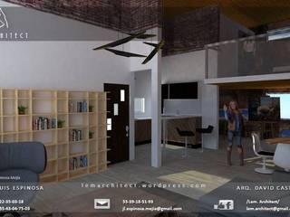 Departamento con mezanine(Cancun Quintana Roo) Salones industriales de Lem Architect. Arquitectos e Ingenieros, CDMX. Industrial