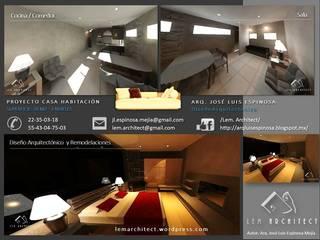 CASA HABITACIÓN DE 3 NIVELES EN SOLO 90 m2 Casas minimalistas de Lem Architect. Arquitectos e Ingenieros, CDMX. Minimalista
