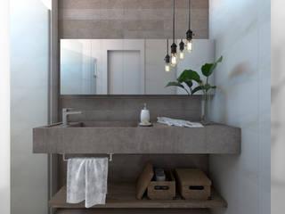 i47 | Interior de um apartamento Banheiros mediterrâneos por Estúdio 2 : 1 Mediterrâneo