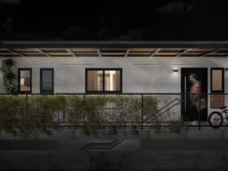 M05 | Edificação de uso misto - comercial + residencial Lojas & Imóveis comerciais mediterrâneos por Estúdio 2 : 1 Mediterrâneo