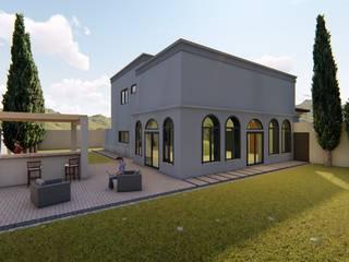 San Armando: Jardines en la fachada de estilo  por QP Arquitectos SA de CV