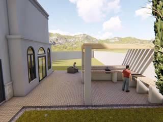 San Armando: Terrazas de estilo  por QP Arquitectos SA de CV