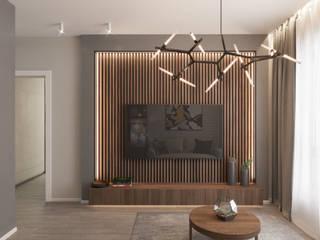 Гостиная: Гостиная в . Автор – Студия дизайна интерьеров Екатерины Дозмолиной