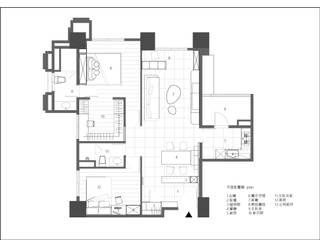 新竹【BLACK  WHITE HOUSE】:   by 璞玥室內裝修有限公司