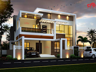 Architects in Kerala Asian style houses by CreoHomes Pvt Ltd Asian