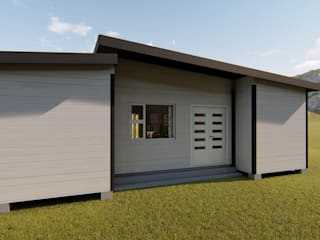 2/3 bedroom modular container home:   by ContainaTech,