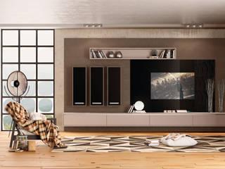 HOMES Salas de estar modernas por INUSITTÁ COZINHAS Moderno