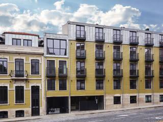 Apartamentos Santos Pousada Casas modernas por N&N-Arquitectura e Planeamento, Lda Moderno